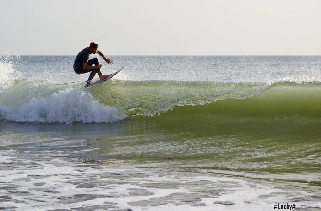Pablo Nogales aprovechando cualquier tamaño de ola